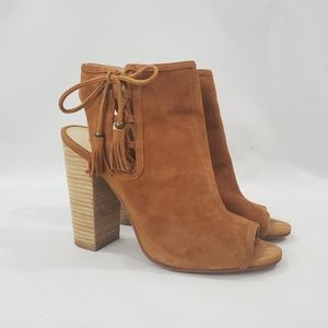 Chinese Laundry Bohemian Suede Peep Toe Bootie